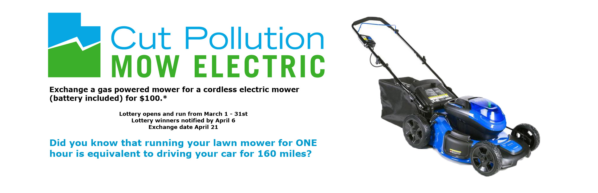 Cut Pollution Mow Electric Exchange